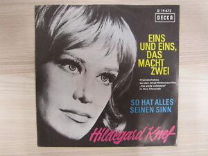 Single / Hildegard Knef ?– Eins Und Eins, Das Macht Zwei / DECCA / RAR /