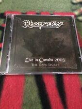 RHAPSODY LIVE IN CANADA 2005 THE DARK SECRET ORIGINAL CD/DVD 2006 MAGIC CIRCLE