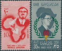 Egypt 1962 SG703-704 Lumumba set MNH