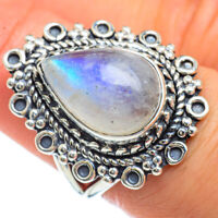 Rainbow Moonstone 925 Sterling Silver Ring Size 7.25 Ana Co Jewelry R44088F