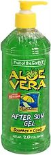 Fruit of the Earth Aloe Vera After Sun Gel 20 oz (Pack of 2)