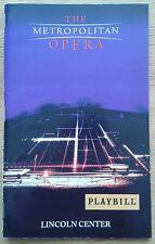 Fidelio Playbill programme Lincoln Center NY 3rd Jan 2001 The Metropolitan Opera