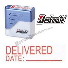 { DELIVERED DATE: } Deskmate Red Pre-Inked Self-Inking Rubber Stamp #KE-D05