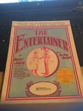 Vintage Sheet Music: The Entertainer, Scott Joplin 1972