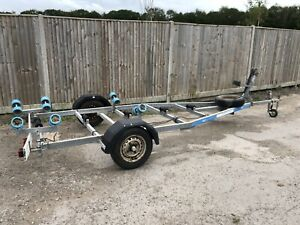 Boat Trailer 750kg Unbraked Rib Powerboat Galvanised Roller