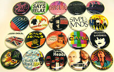 "20 80s NEW WAVE Bands ONE Inch Buttons 1"" Pins Pinback Badges Set #2 1980s Music"