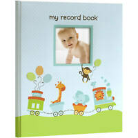 MY BABY FIRST MEMORIES BOOK - LIL PEACH BOYS BLUE TRAIN - KEEPSAKE RECORD ALBUM