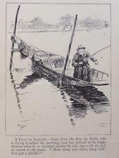FLY Canna da pesca pescatore dalla sterlina conserva ancora ho ottenuto un Nibble Antico CARTOON