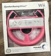 PowerA Nintendo Wii Comfort Racing Wheel Pink Mario Kart Controller Holder