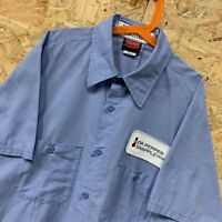 Vintage RED KAP Workwear Work Short Sleeve Shirt Light Blue USA Size Small S