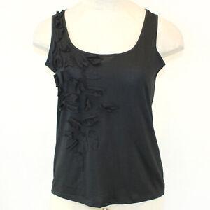 Talbots Woman Plus Black PIMA COTTON-BLEND TANK Top Blouse Petite 1X