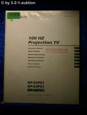 Sony Bedienungsanleitung KP 48PS1 /53PS1 /61PS1 100Hz Projection TV (#1173)