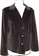 NEW W/O TAGS NORDSTROM BLACK COTTON VELVET BLAZER COAT SUIT JACKET SZ 12 LARGE