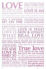 LOVE Quotes Words of Love Love Is., True Love Maxi Poster GN0727 - 61x91.5cm