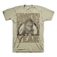 Official Star Wars Wookiee of The Year Chewbacca Khaki Mens Tee T-Shirt