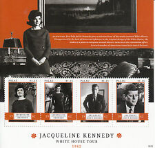 Palau 2012 Gomma integra, non linguellato JACKIE KENNEDY White House Tour 4v M/S John F Kennedy JFK FRANCOBOLLI