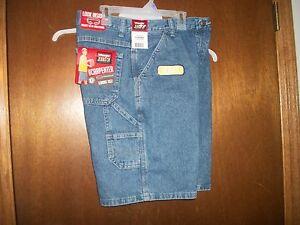 Wrangler Carpenter Jean shorts ADJ Waist NWT 5R -18 R or Husky sizes Blue