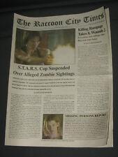 Resident evil Apocalypse promo Newspaper  2004