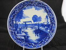 """Boch Delft Canal Scene 9 3/4"""" Plate"""
