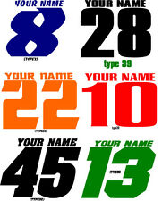MOTORCYCLE NUMBER PLATE DECALS MOTOCROSS STICKERS MX ATV YZ RM KX ENDURO RACING