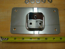 CHROME LAY DOWN LICENSE PLATE MOUNT FOR HARLEY DAVIDSON MODELS