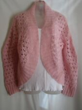 United Colors of Benetton Pink Knit Open Front Jacket sz.44/L USA