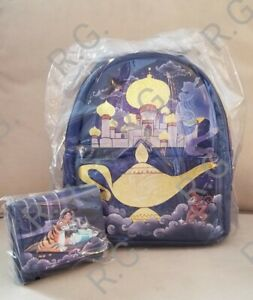 NWT Disney Loungefly Jasmine Aladdin Castle Series Mini Backpack and Wallet🏰🎆