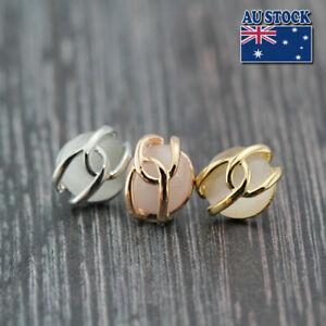 Gorgeous Women's 18K GOLD GF Cat's Eye Crystal Infinity Stud Earrings Stunning
