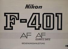 Nikon f-401 AF QUARTZ date istruzioni tedesco manual mode Emploi - 81575