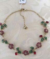 NEW Betsey Johnson Garden of Excess Multi Pave Rose Collar Necklace