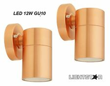 Lightstar 35w Fixed Wall Light Copper Finish Surface Mounted Weather Resistant