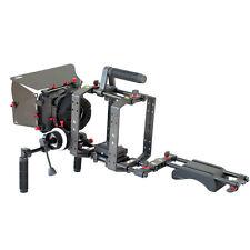 FILMCITY DSLR Power Camera Cage Shoulder Steady Rig + Mattebox Movie Video Shoot