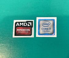 AMD Radeon Graphics Intel Core i7 Sticker Combo 7th Gen Case Badge PC/Laptop USA
