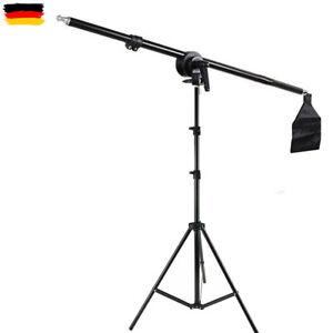 Fotostudio Ständer Lichtstativ Lampenstativ / Boom Arm &Sandsack Galgenstative