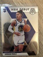 2019-20 Panini Prizm Mosaic Jordan Poole NBA Debut Rookie #261 Golden State RC