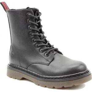 Heavenly Feet Justina Womens Ladies Black Vegan Friendly 8 Eye Ankle Boots Size
