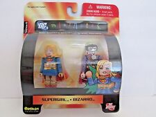 DC MINIMATES SUPERGIRL & BIZARRO Action Figures 2 pack NIP Wave 6