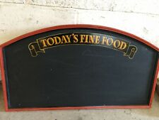 Todays Fine Foods Menu Chalkboard Blackboard Pub Cafe Restaurant Kitchen Bistro