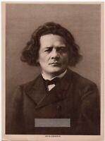 Anton Rubenstein Russian Pianist Conductor Composer 1916 Photogravure Print