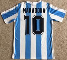 Maglia Maglietta Retrò Calcio Argentina Mexico Messico 1986 #10 Maradona Shirt