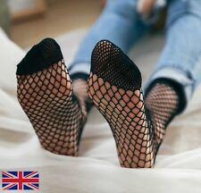 Women's Fishnet Socks Quality Elastic Black Polyester - UK Free P&P