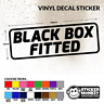 BLACK BOX FITTED (#2) Funny New/Young Driver Car/Window/Bumper Sticker