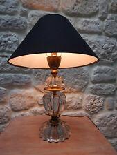 ancien pied de lampe en verre année 40/50 style Daum
