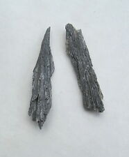 Stone Black Kyanite 2x 1/2 inch - 2 pieces  - 1  ounces C252
