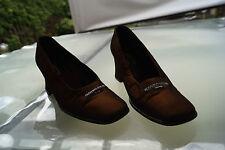 Armando Pollini Italy Damen Schuhe Pumps High Heels Glanz braun luxus Gr.40 #14