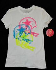 Dallas Cowboys NFL Women's Tri-Helmet Neon Fitted Graphic Tee Shirt S
