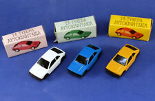 Lot of 3 Joy-Toy cars VW SCIROCCO made in Greece with box new old stock