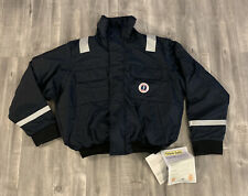 Mustang Survival MJ6214 Classic Bomber Floater Jacket Size XL Navy Blue