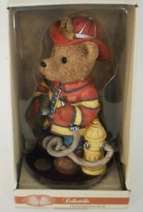Classic Treasures Professional Bear Fireman Firefighter Collectible Ceramic