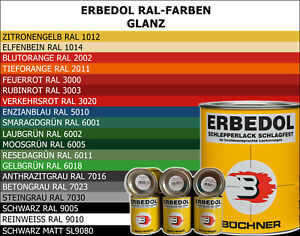 Büchner Erbedol 750ml/16,93€ ltr. RAL Lack Traktor Schlepper LKW Metall Holz